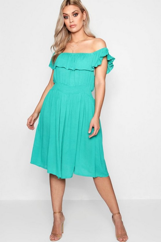 Plus Laura Off The Shoulder Midi Dress