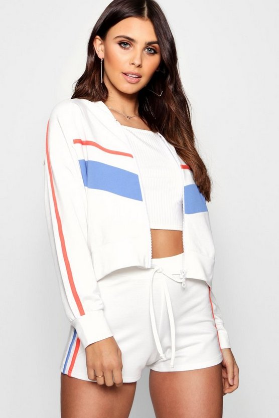 Petite Quin Short & Jacket Sweat Co-Ord