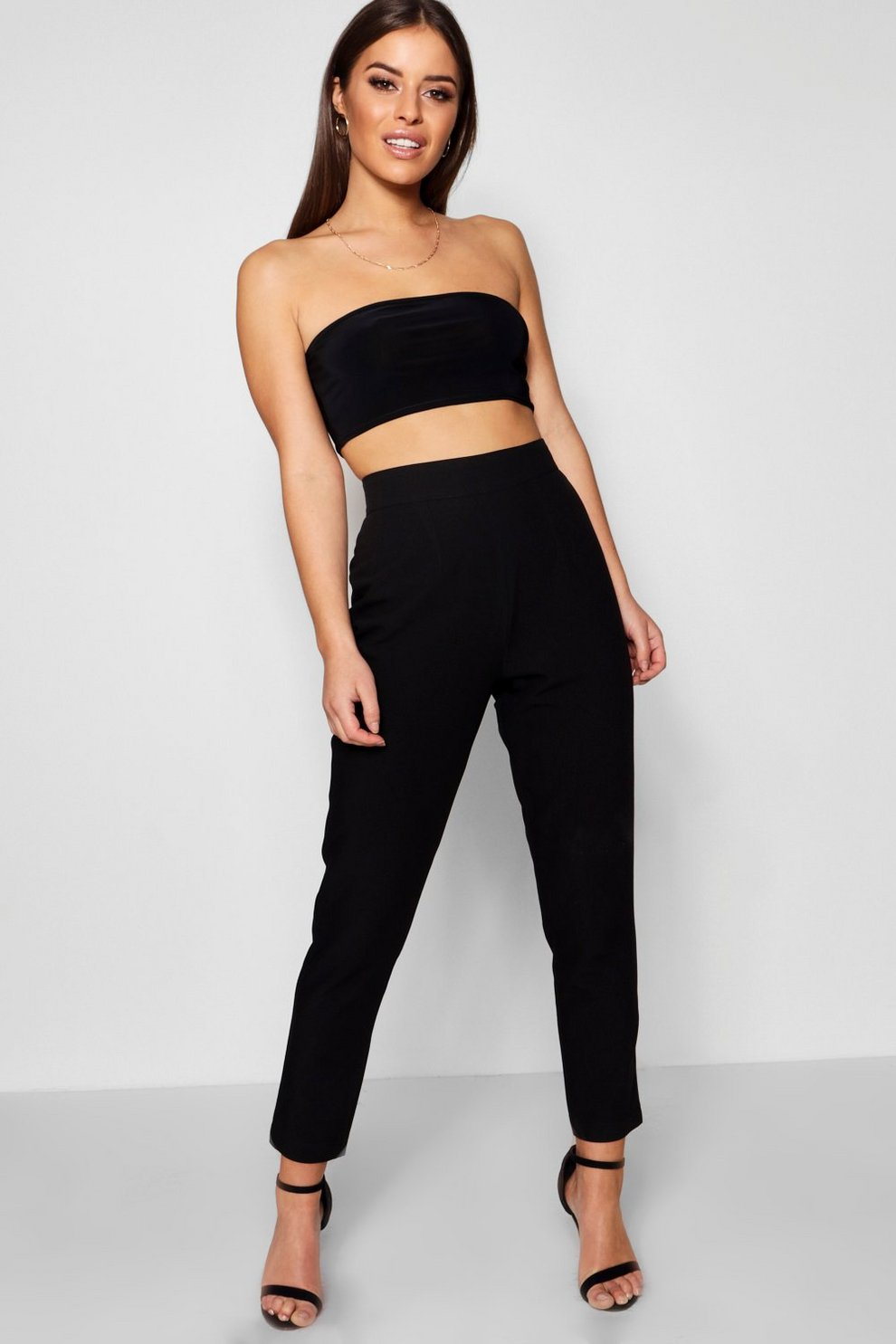 2018 Unisex Sale Online Boohoo Petite High Waisted Woven Tapered Trouser Clearance Footlocker Pictures Inexpensive For Sale k2UzCak5J1