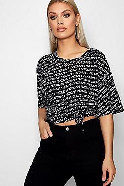 Plus übergroßes T-Shirt Damen - Boohoo.com