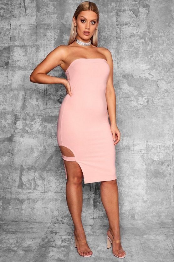 Plus Strap Detail Bodycon Dress