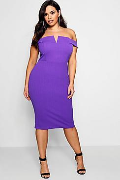 Plus Nina Bardot Bodycon Dress