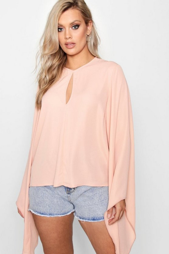 Plus Extreme Flare Sleeve Top
