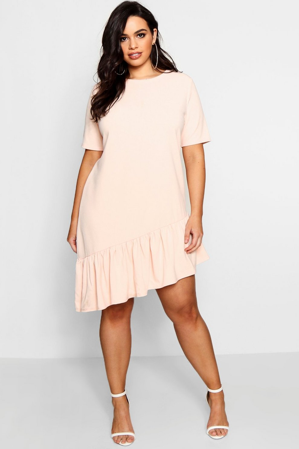 Plus Georgie Asymmetric Hem Shift Dress