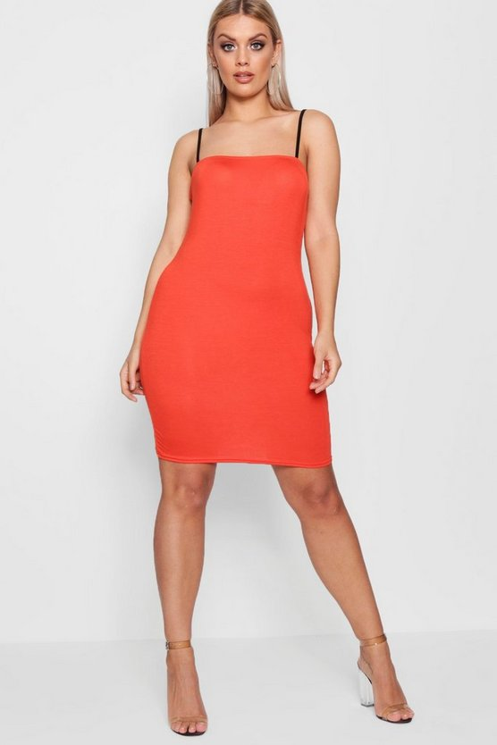 Plus Isla Contrast Strap Bodycon Dress