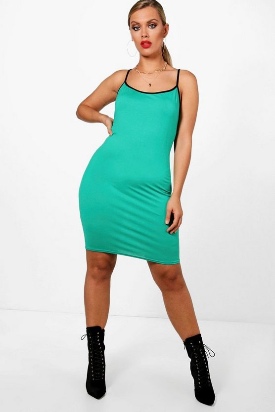 Plus Esther Contrast Binding Bodycon Dress
