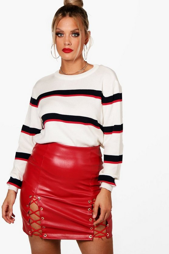 Plus Charlie Stripe Oversized Jumper
