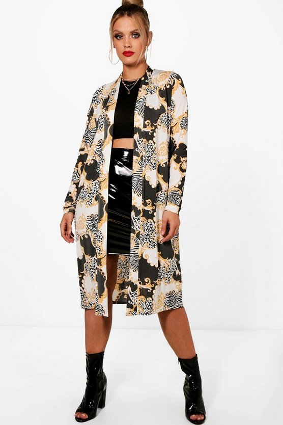 Plus Agnes Slinky Chain Print Duster