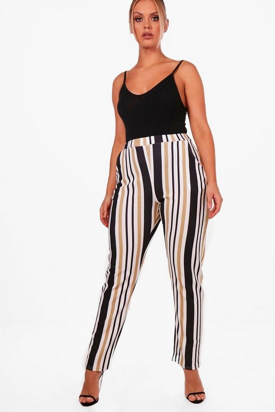 Plus Stripe Pocket Trouser