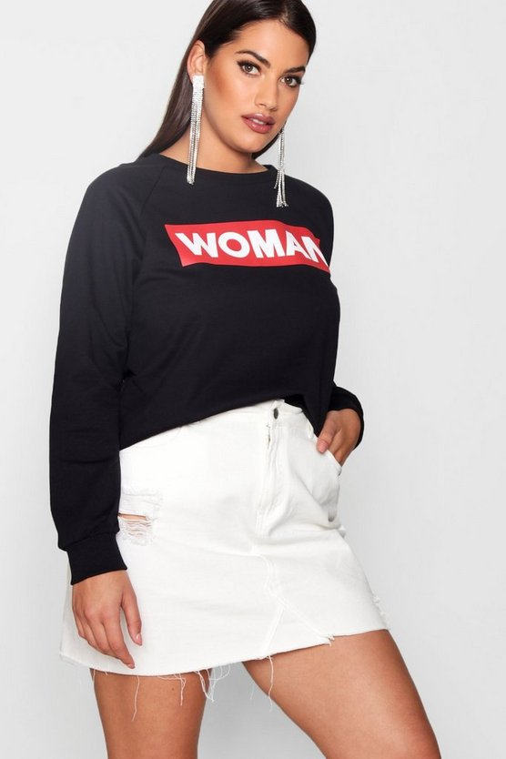 Plus Woman Oversized Sweat
