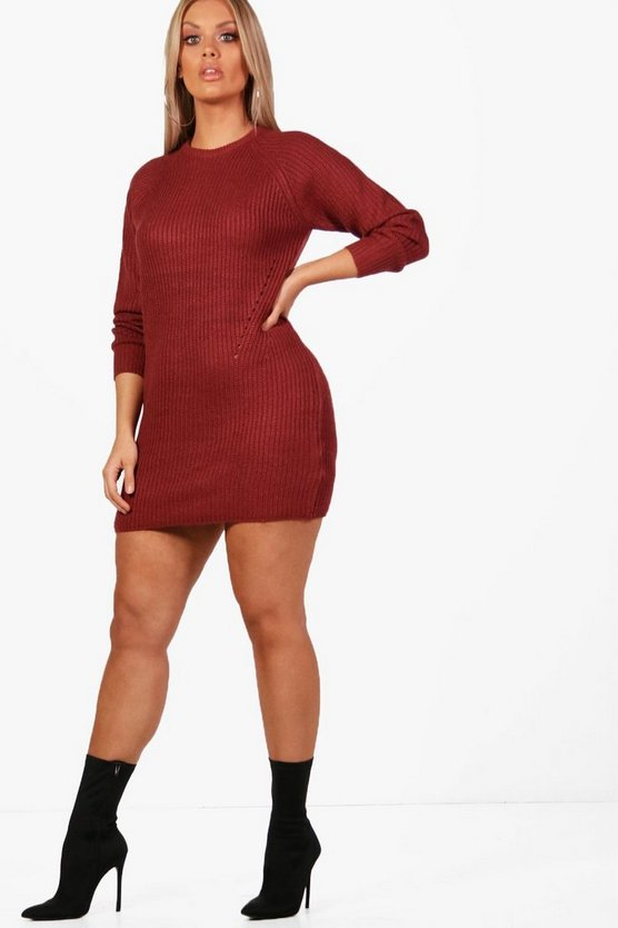 Plus Longline Jumper Dress