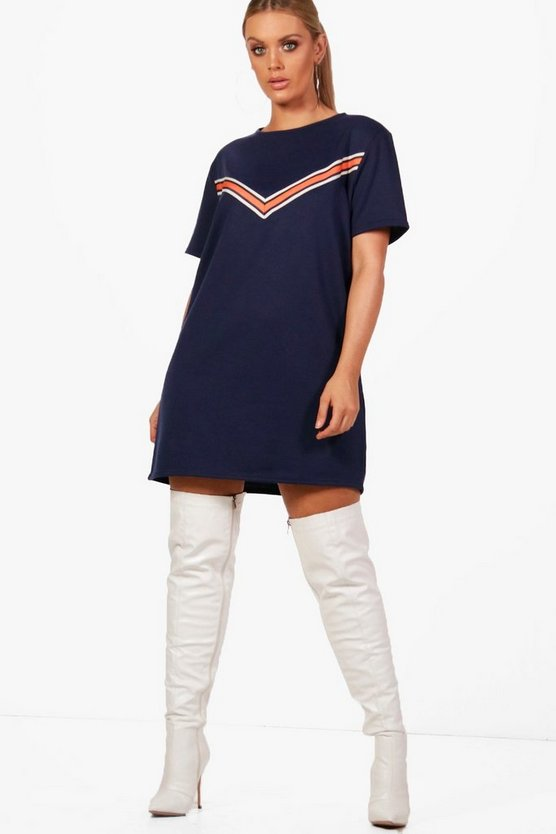 Plus Tape Detail Sweat Dress