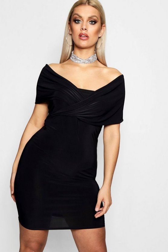Plus Isobel Off Shoulder Bodycon Dress