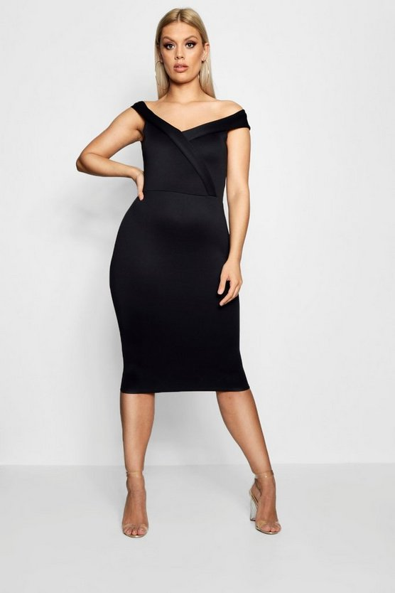 Plus Lindsey Off Shoulder Midi Dress