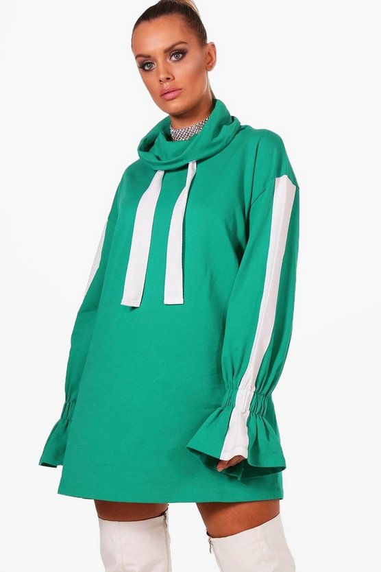Plus Charly Stripe Sports Sweat Dress