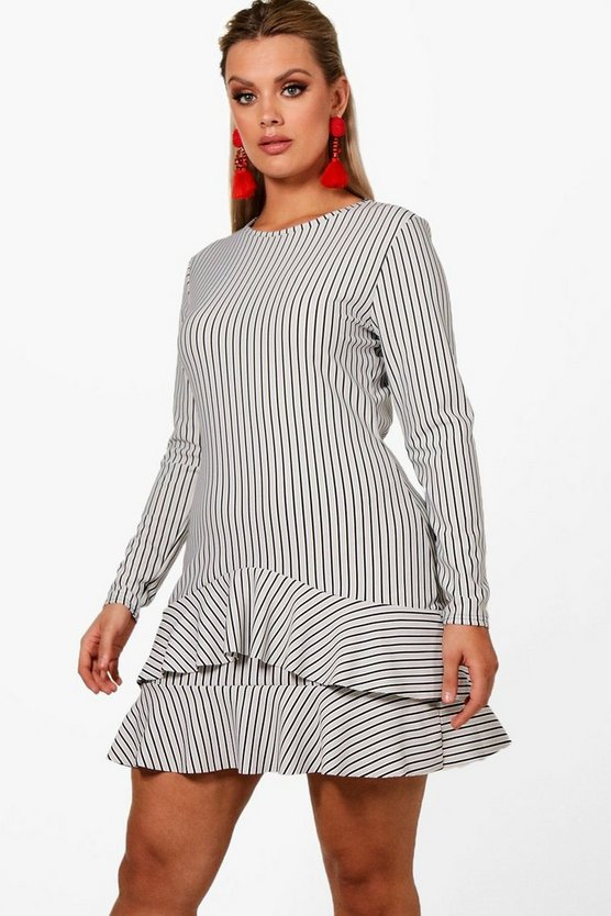 Plus Joanne Ruffle Hem Shift Dress