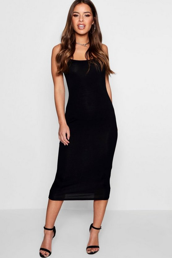Petite Julie Square Neck Strappy Midaxi Dress