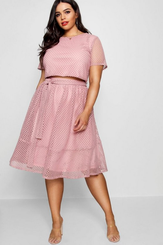 Plus Lace Skirt Co-ord