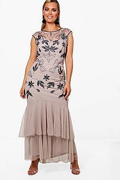 Plus Lotte Boutique Ruffle Hem Maxi Dress