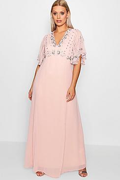 Plus Boutique Embellished Sequin Maxi Dress