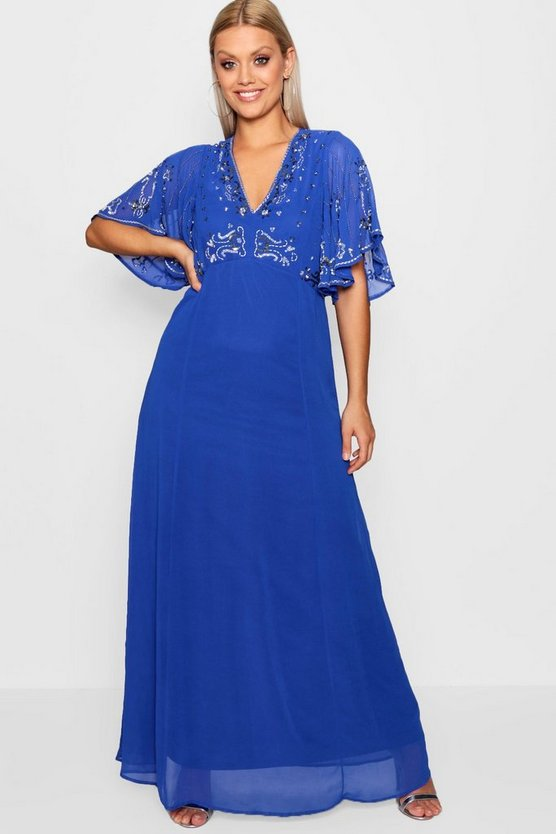 Plus Jas Boutique Embellished Sequin Maxi Dress