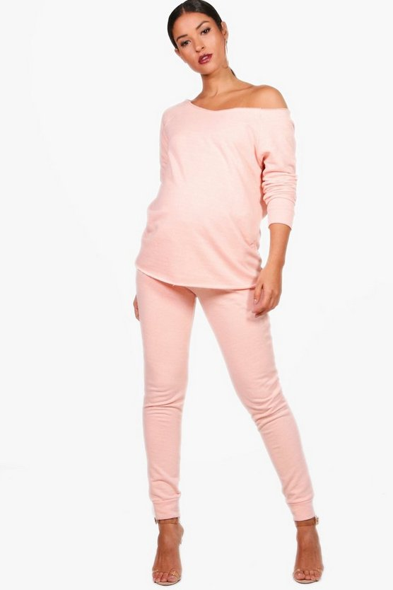 Maternity Eva Raw Edge Lounge Set