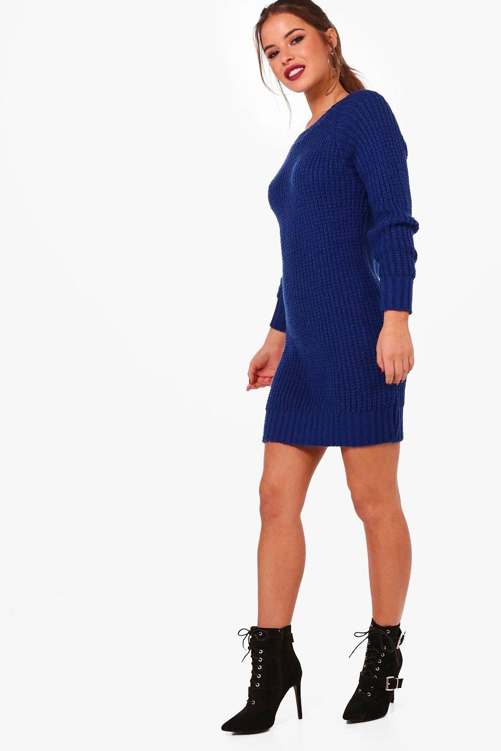 petite maria soft knit jumper dress | boohoo