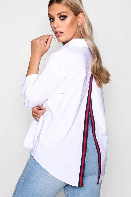 Plus May Sports Trim Open Back Shirt