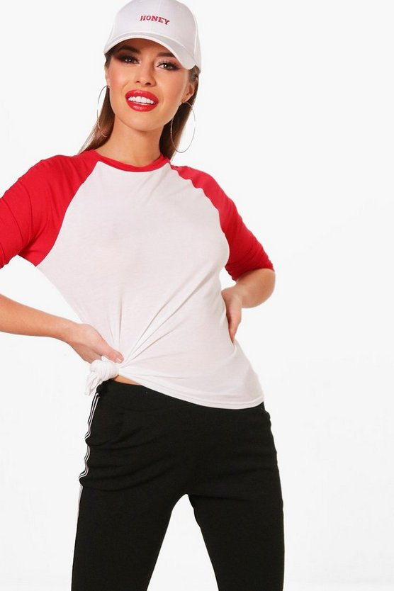Petite Stephanie Raglan Sleeve Top