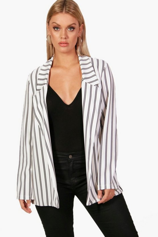 Plus Diana Stripe Blazer