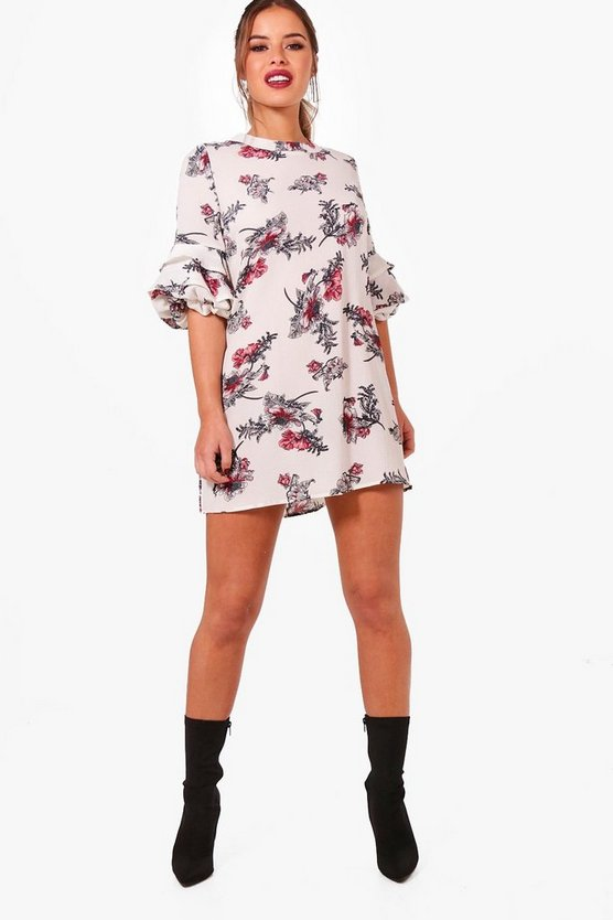 Petite Stephanie Floral Shift Wrap Dress