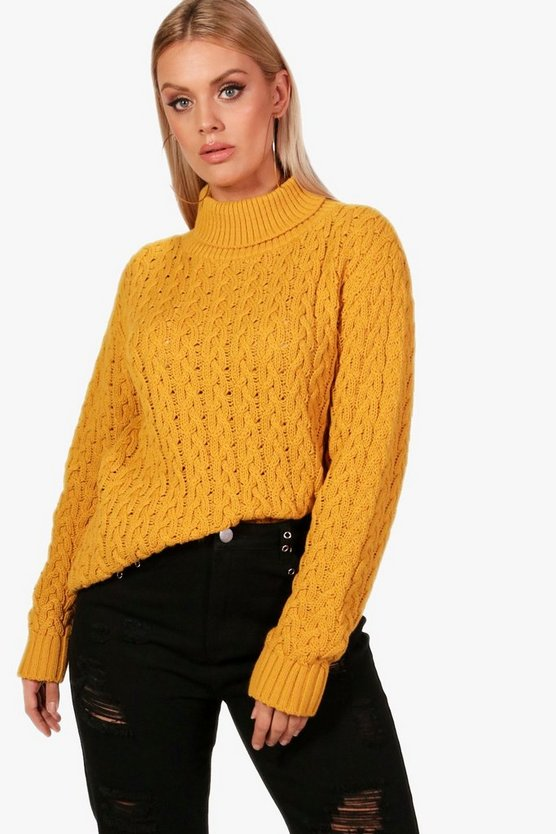 Plus Sally Cable Knit Jumper