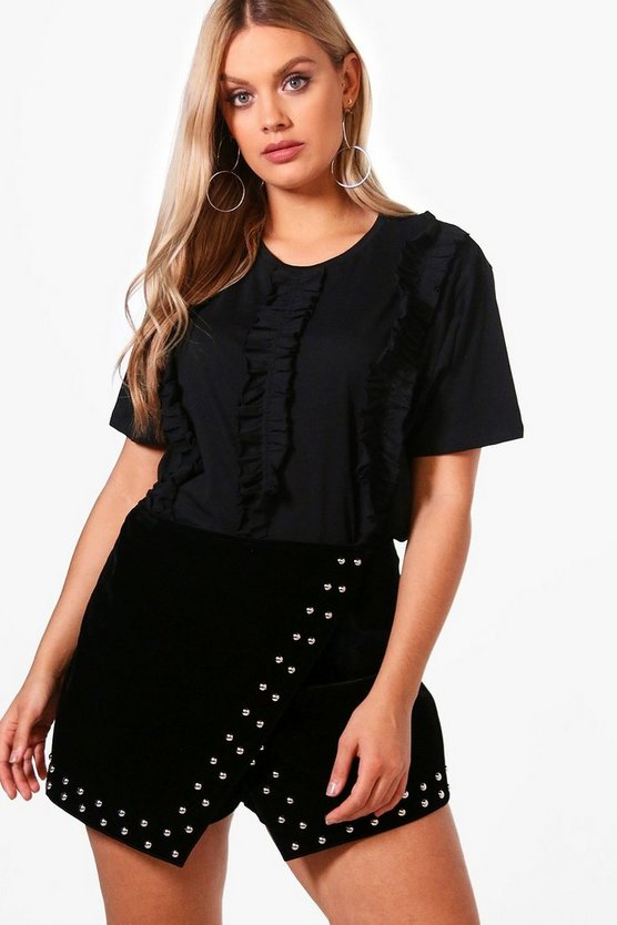 Plus Tammy Ruffle Front T Shirt