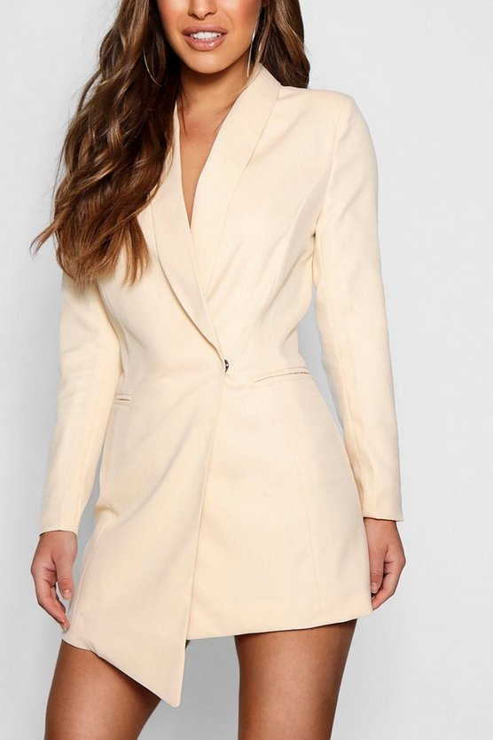 Petite Tara Asymmetric Blazer Dress by Boohoo