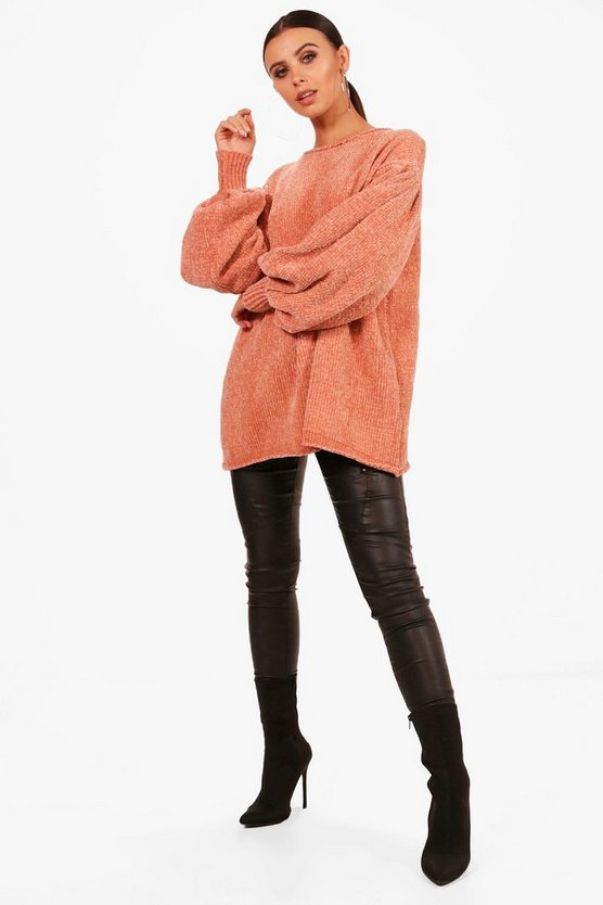 Petite Hollie Oversized Chenille Jumper