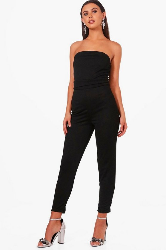 Petite Joy Bandeau Pleat Detail Jumpsuit