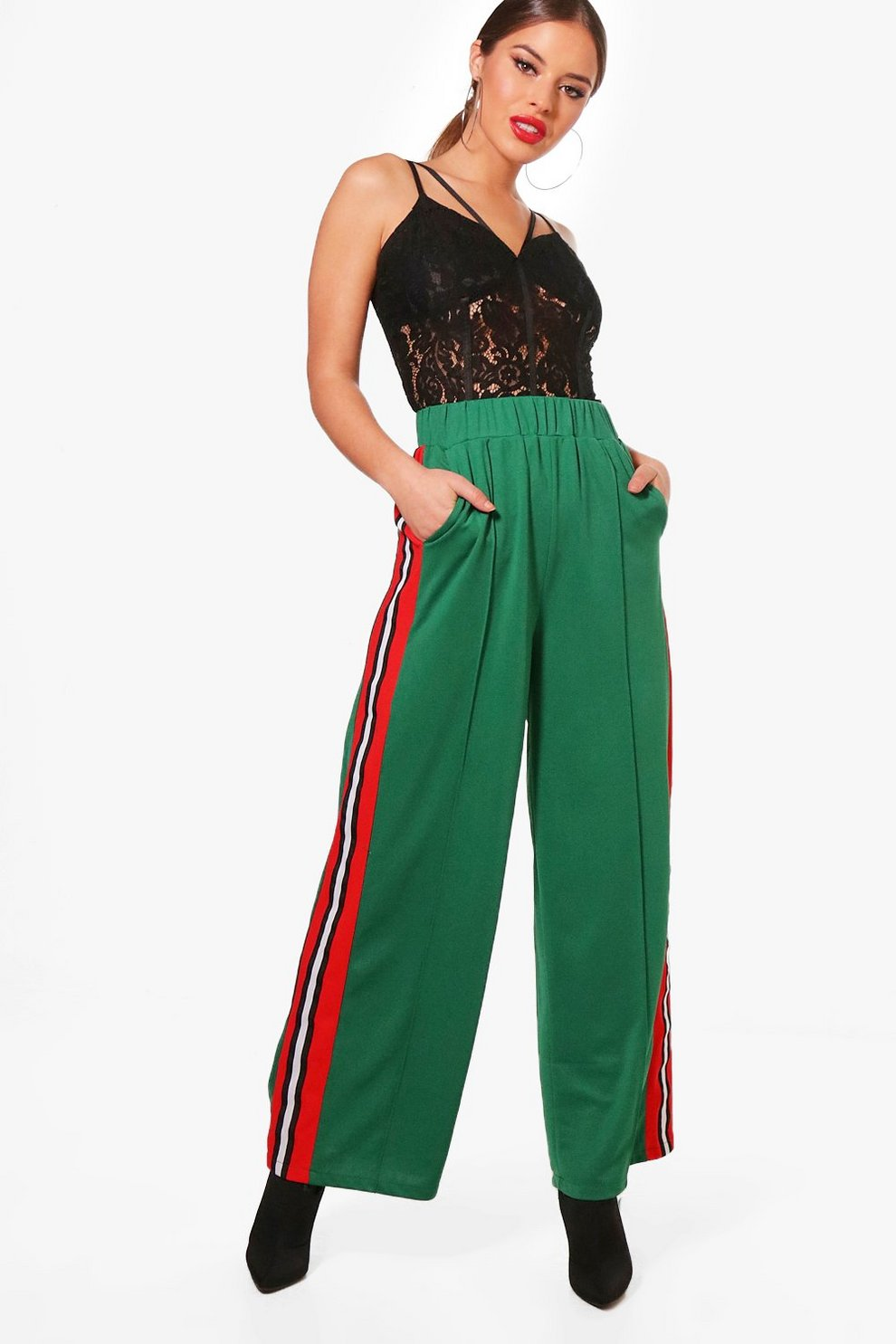 Boohoo Petite Woven Slouchy Track Pant Best Place For Sale Free Shipping Top Quality Footlocker Pictures Cheap Online 0qMqw4oC