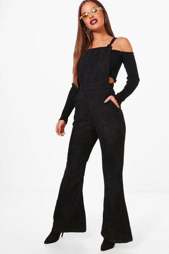 Petite Wide Leg Cord Dungaree