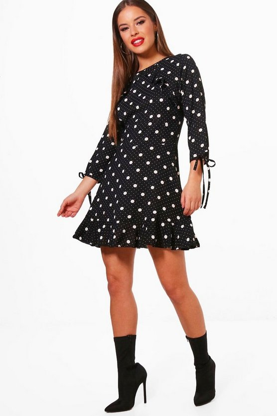 Petite Spot Print Woven Shift Dress