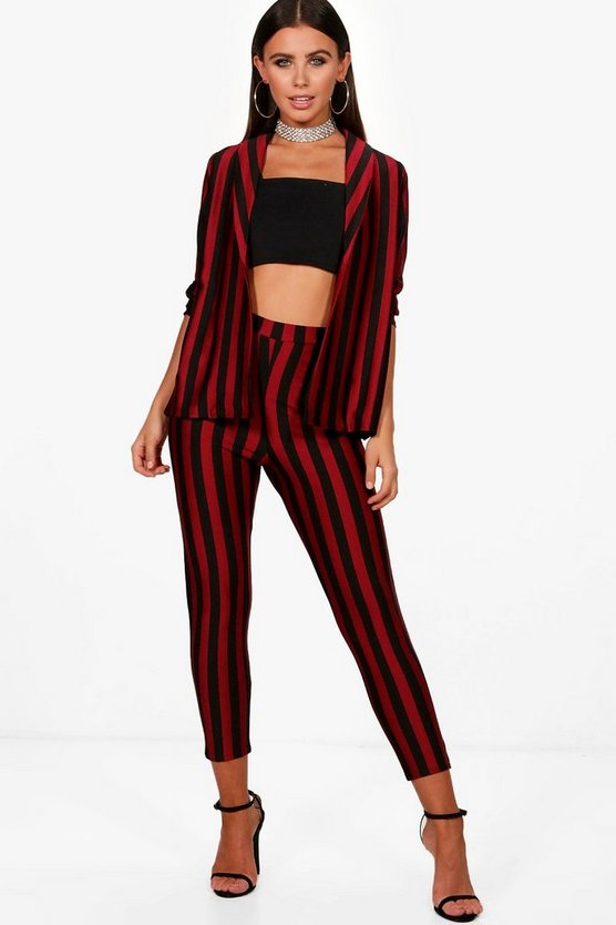 Petite Paige Stripe Co-Ord Cigarette Trouser
