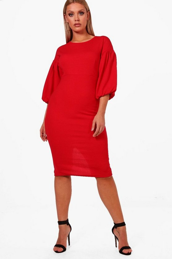 Plus Chelsea Puff Sleeve Dress