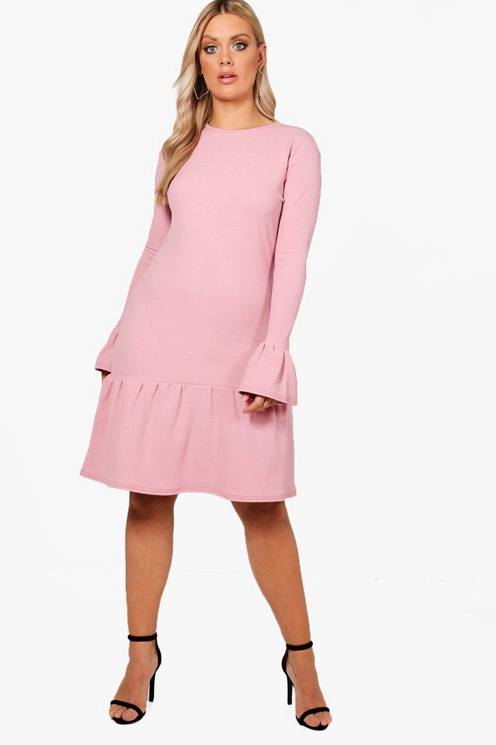 Good Selling Online Choice Boohoo Plus Peplum Hem Dress pmTUx1snY