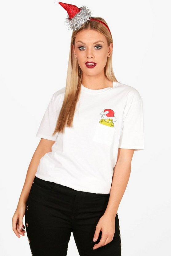 Plus Claire Grinch Xmas Pocket Licensed Tee