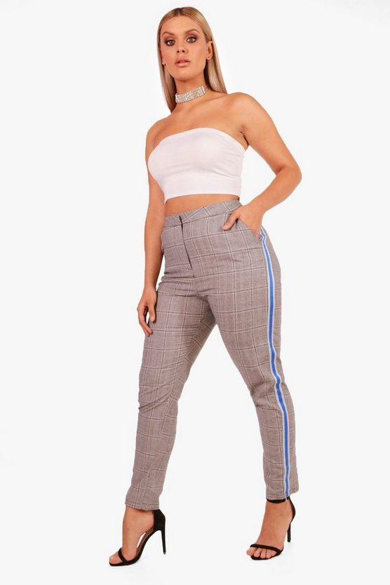 Plus Sports Tape Check Tapered Trouser