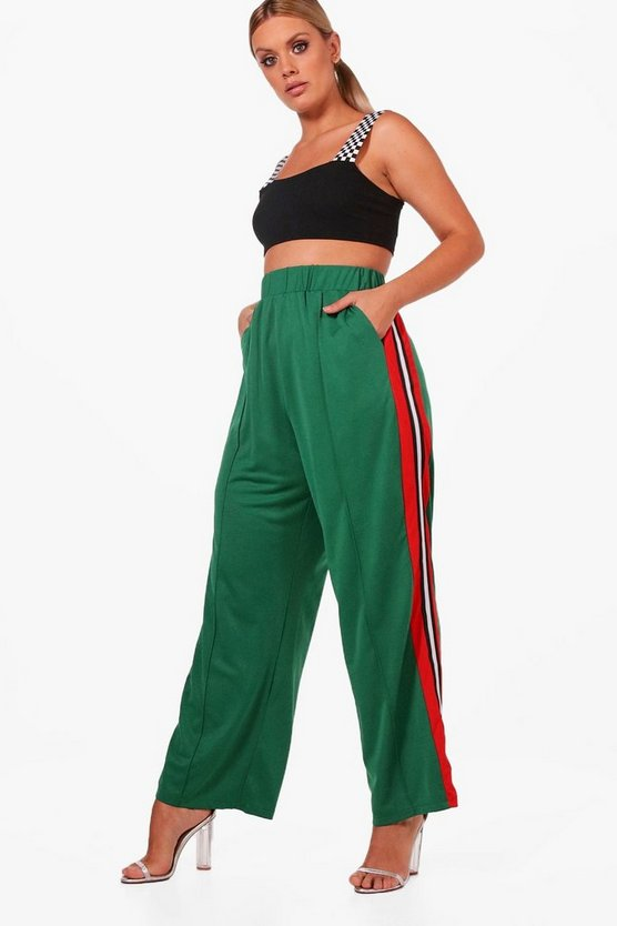 Plus Woven Slouchy Track Pant