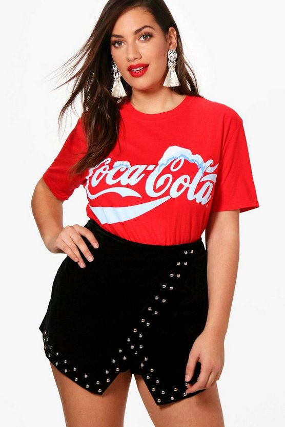 Plus Georgia Coca Cola Slogan T Shirt