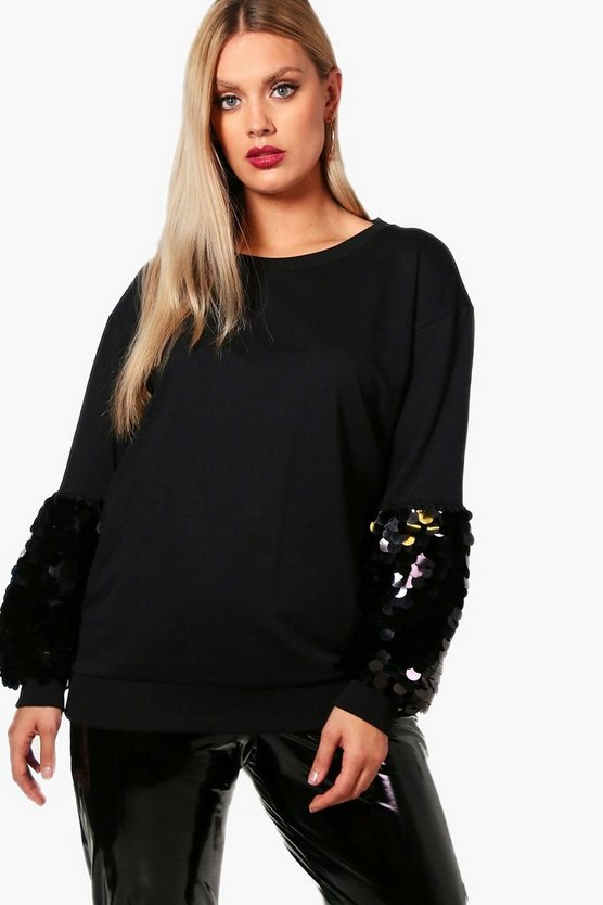 Pullover oversize con paillettes Vicky Plus