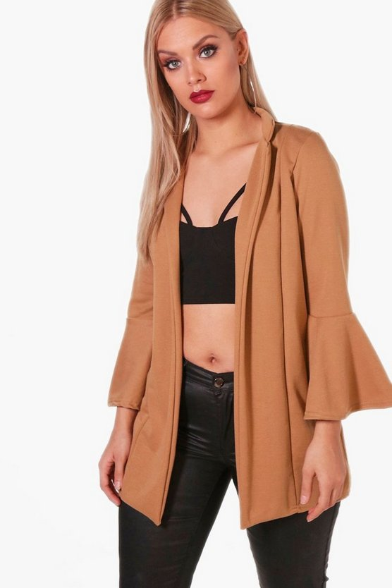 Plus Holly Frill Sleeve Duster Jacket