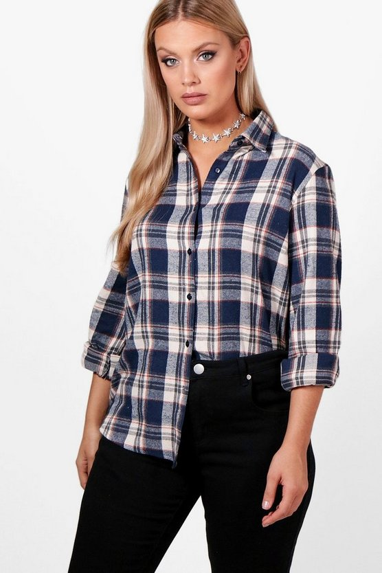 Plus Isla Checked Shirt