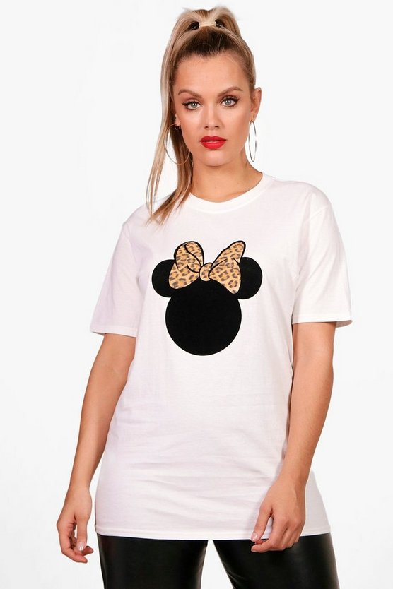Plus Imy Disney Minnie Leopard Ears T-Shirt